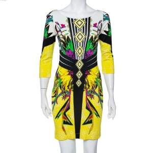 Just Cavalli Multicolor Printed  Knit Sheath Dress M