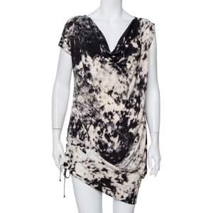 فستان ميني جست كافالي تريكو طباعة تجريدية بربطة مزينة مقاس متوسط - ميديوم