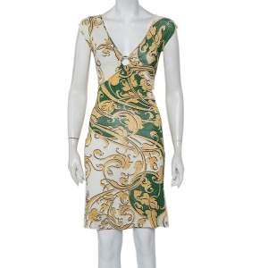 Just Cavalli Multicolor Printed Knit Sleeveless Mini Dress S