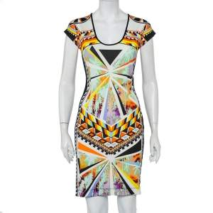 Just Cavalli Multicolor Knit Sheath Dress M