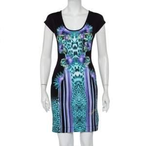 Just Cavalli Multicolor Animal Printed Jersey Sheath Dress M