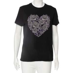 Just Cavalli Black Printed Short Sleeve T-Shirt L