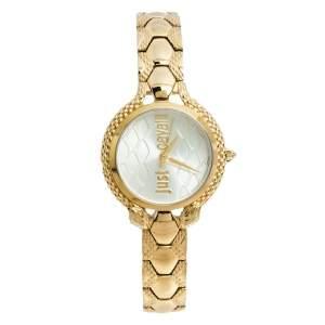 Just Cavalli Yellow Gold Tone Stainless Steel JC1L046M0065 Women's Wristwatch 32 mm