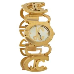 Just Cavalli Gold Tone Stainless Steel JC Link R7253421517 Women's Wristwatch 31 mm