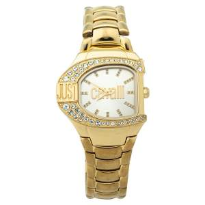 Just Cavalli Champagne Yellow Gold Tone Stainless Steel R7253160501 Women's Wristwatch 35 mm