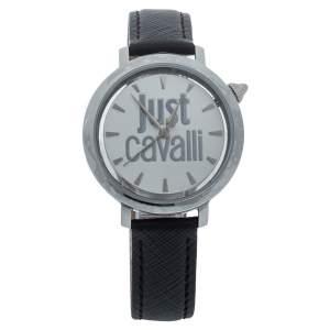Just Cavalli White Stainless Steel Logo JC1L007L0015 Women's Wristwatch 34MM