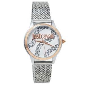 ساعة يد نسائية جست كافالي جي سي1أل050إم0295 ستانلس ستيل لونين فضية 34 مم