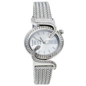 Just Cavalli Silver Stainless Steel Sin R7253591503 Women's Wristwatch 35 mm