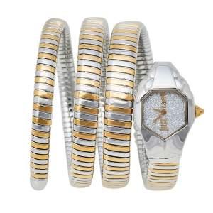 Just Cavalli Two-Tone Stainless Steel Snake JC1L115M0045 Women's Wristwatch 22 mm