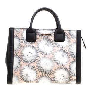 Karl Lagerfeld Black/Multicolor Printed Leather K Klassik Tote
