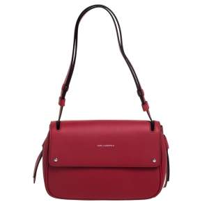 Karl Lagerfeld Red Leather K/Ikon Shoulder Bag