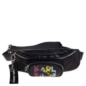 Karl Lagerfeld Black Leather Karlifornia Belt Bag