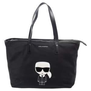 Karl Lagerfeld Black Nylon K Ikonik Tote