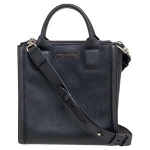 Karl Lagerfeld Black Leather K/Klassik Tote