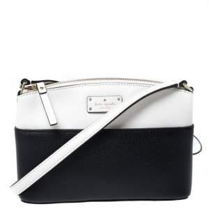 Kate Spade Black/White Leather Grove Street Millie Crossbody Bag