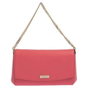 Kate Spade Coral Pink Leather Laurel Way Crossbody Bag
