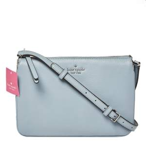 Kate Spade Light Blue Leather Jackson Triple Gusset Shoulder Bag