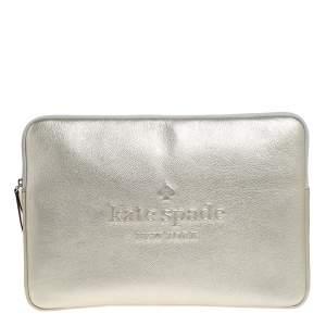 Kate Spade Metallic Gold Leather Laptop Case