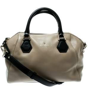 Kate Spade Beige/Black Leather Catherine Street Top Handle Bag