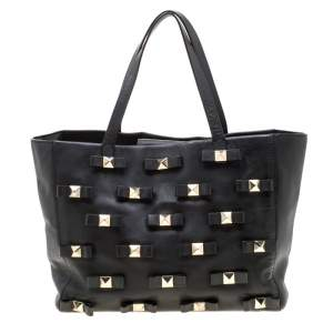 Kate Spade Black Leather Bow Terrace Janis Tote