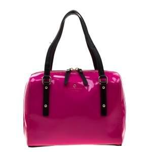 Kate Spade Pink Patent Leather Bowler Bag