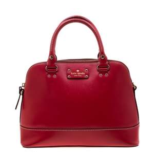 Kate Spade Red Leather Wellesley Rachelle Satchel