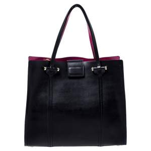 Kate Spade Black/Pink Leather Annelle Arbour Hill Tote