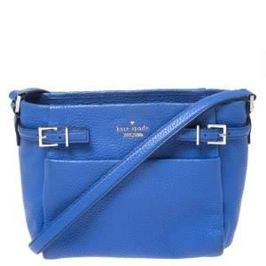 حقيبة كروس كيت سبيد Mini Brandy جلد زرقاء