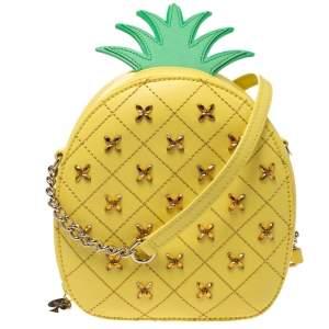 Kate Spade Yellow Pineapple Leather Crossbody Bag