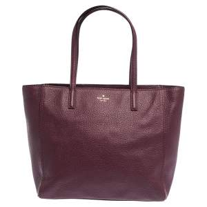 Kate Spade Burgundy Leather Street Violeta Shopper Tote