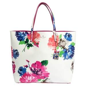 Kate Spade Multicolor Printed Leather Turn Over A New Leaf Len Tote