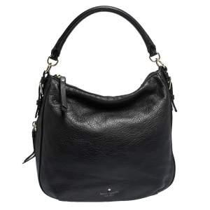 Kate Spade Black Leather Zip Hobo