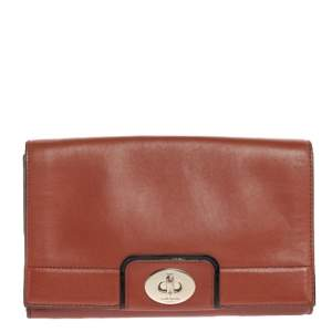 Kate Spade Brown Leather Flap Crossbody Bag