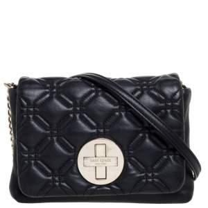 Kate Spade Black Leather Astor Court Naomi Crossbody Bag