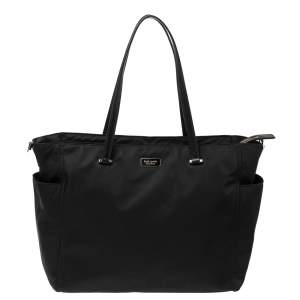 Kate Spade Black Nylon and Leather Dawn Baby Diaper Bag