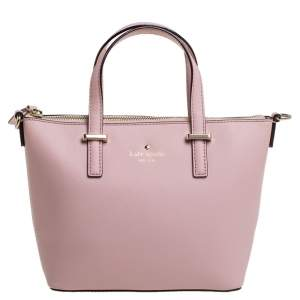 Kate Spade Blush Pink Leather Top Zip Tote
