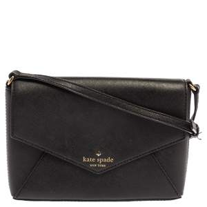 Kate Spade Black Leather Cedar Street Monday Crossbody Bag