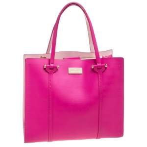 Kate Spade Pink Leather Open Tote