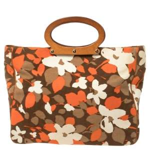 Kate Spade Multicolor Floral Canvas Ring Handle Tote
