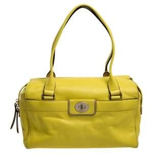 Kate Spade Yellow Leather Hampton Road Satchel
