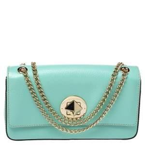 Kate Spade Mint Green Leather Grand Street Angelina Shoulder Bag