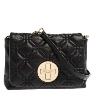 Kate Spade Black Quilted Leather Astor Court Cynthia Shoulder Bag