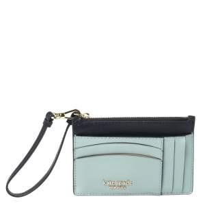 Kate Spade Two Tone Blue Leather Spencer Wrislet Cardholder