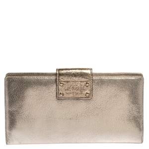Kate Spade Gold Shimmer Leather Flap Clutch