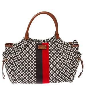 Kate Spade Multicolor Classic Print Canvas and Leather Stevie Diaper Bag