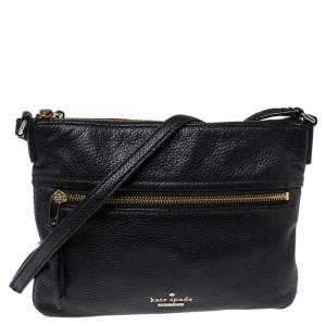 Kate Spade Black Leather Jackson Street Gabriele Crossbody Bag