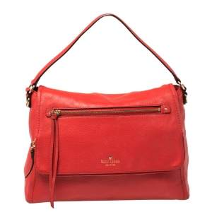 Kate Spade Red Leather Cobble Hill Toddy Shoulder Bag