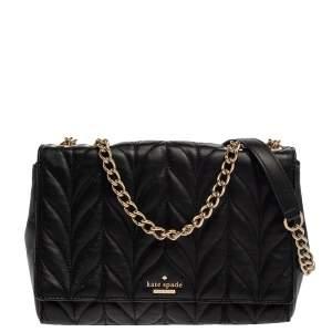 Kate Spade Black Quilted Leather Emelyn Shoulder Bag