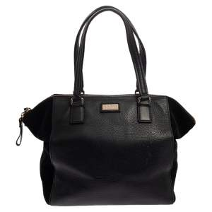 Kate Spade Black Leather and Suede Magnolia Park Ollie Tote