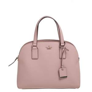 Kate Spade Powder Pink Leather Sylvia Dome Satchel